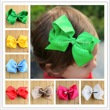 Newest Trendy Solid Satin ribbon bowknots/tie decoration girls Headwear Clamp alloy Duckbill clip diy garments/hair accessories
