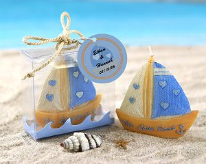 Free shipping 20pcs/lot Wedding Favor Candle Love Boat Beach Candle in Gift Box(China (Mainland))