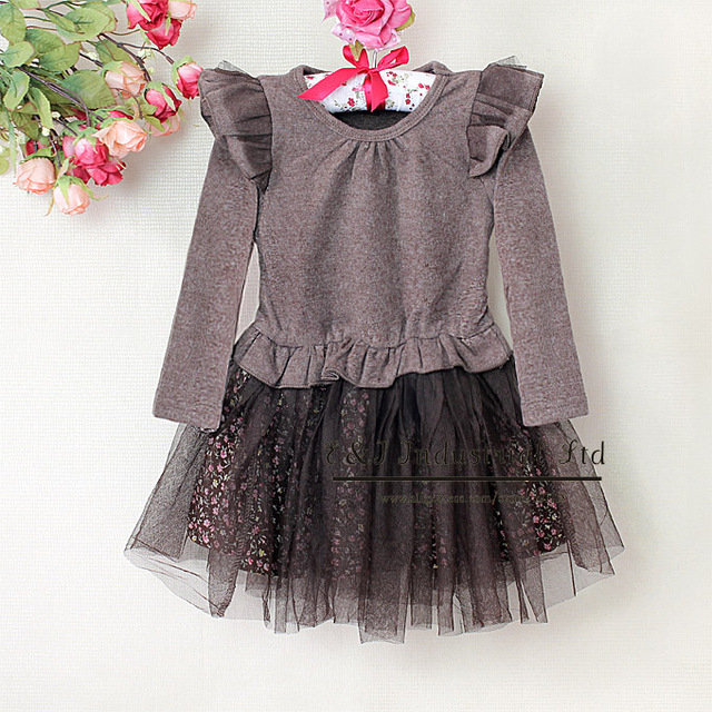 2013 New Children Petti Lace Dress Girls Princess Party Dresses Kids Spring Wear For Girl Clothings Ready Stock E130105-16