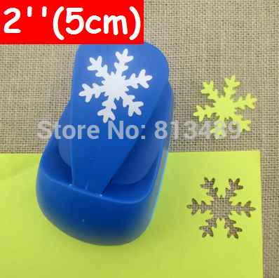 free ship 2''50mm Snowflakes craft punches furador Super Large Shaper Punch Scrapbooking Paper Punch large Punch DIY Toy b4160(China (Mainland))