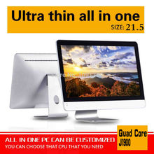 Hot on sale 21.5inch j1900 4g ram 8g ssd all in one touch pc all in one keyboard pc oem all-in-one pc support touch screen
