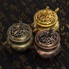 Newest Multifunction Metal Craft Mini Alloy Antique Bronze Incense Burner Sandalwood Censer Tibetan Incense Burner Home Decor(China (Mainland))