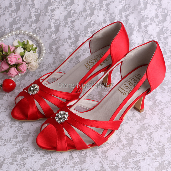 Summer New Comfortable Red Satin Mature Women Strapy Sandals Free Shipping Custom<br><br>Aliexpress
