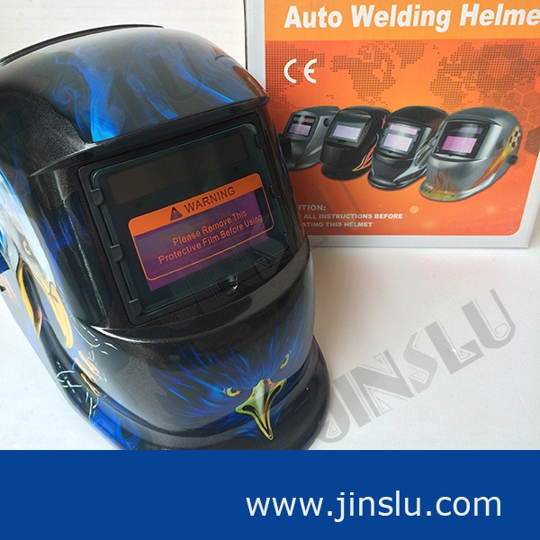 PP Material solar powered welding mask helmet custom auto darkening KM1600 welding helmet(China (Mainland))