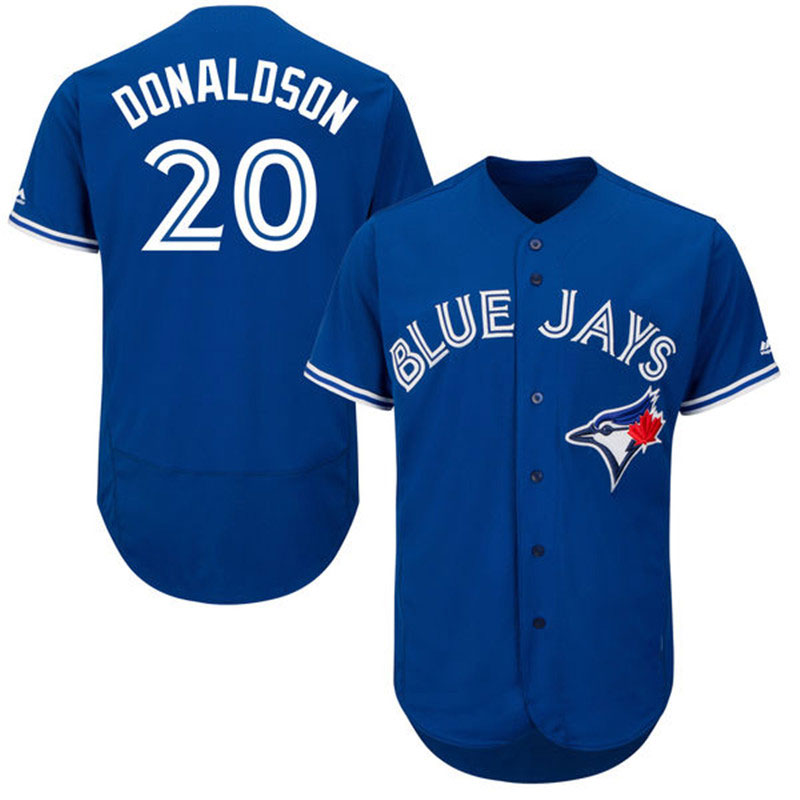 New Mens Toronto Blue Jays 20 Josh Donaldson Baseball Jerseys Blue White Home Road Alternate Flexbase Sewn Jersey(China (Mainland))