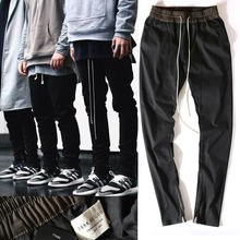 MGD chinos joggers korean mens european urban clothing black kanye west justin bieber harem dress zipper track pants fear of god(China (Mainland))
