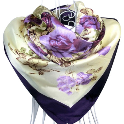 Free Shipping 2015 Hot Sale Satin Square Silk Scarf Printed For Ladies,New Arrival Women Brand Polyester Scarves 90*90cm
