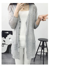 2016 Summer New Fashion Long Button V neck Irregular Sweater font b Cardigan b font Women