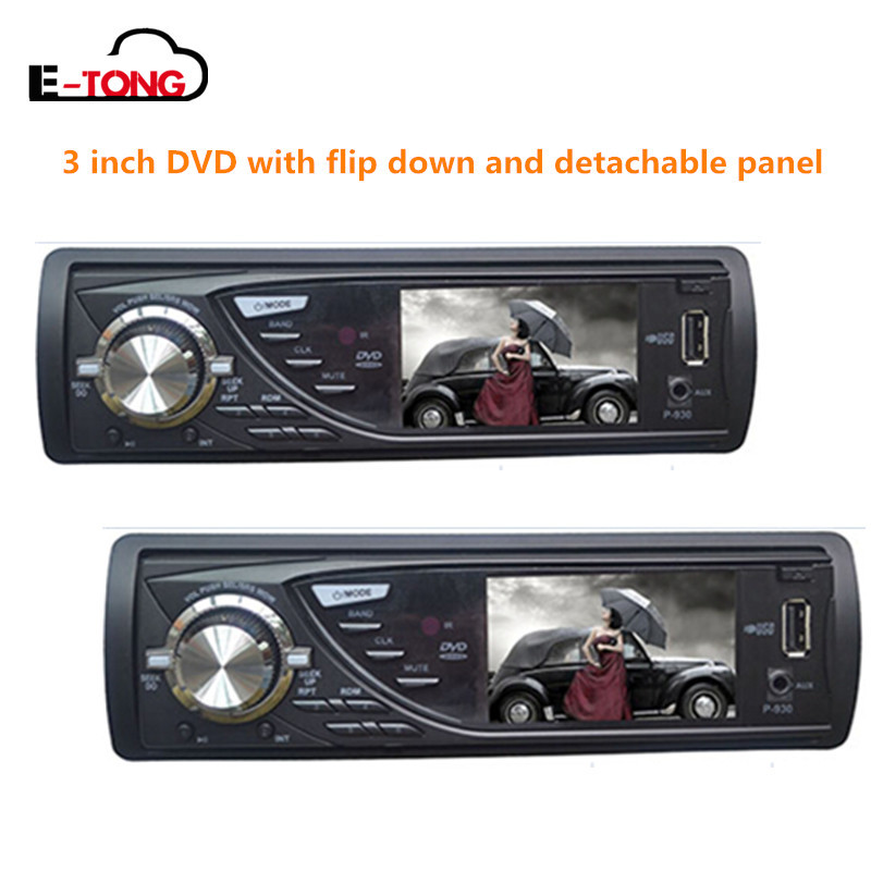3inch  Single  Din  DVD car  Player FOR EP-300  with radio stereo  flip down/ detachable panel sd/usb  1
