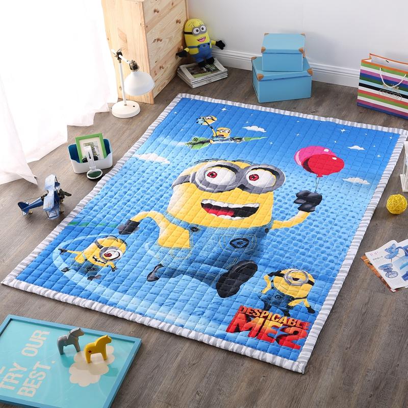 cotton kids rugs 1.5cm thick anti-slip carpet minions mat for living room/ carpets bedroom/ tapete para quarto doormat yoga mat(China (Mainland))