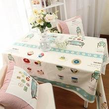Simanfei 2017New Painted Pattern Printed Fresh Small Table Cloth Toalha De  Mesa Soft Home Factory Outlets Tablecloths