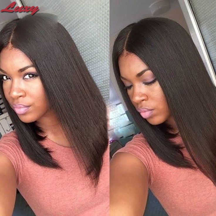 Real Human Hair Wigs Indian Virgin Hair Straight Virgin 8-18 Full Lace Wigs &amp;Front Lace Human Hair Wigs For Black Women<br><br>Aliexpress
