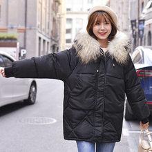 Зимняя куртка женская пуховая Парка женская с большим мехом с капюшоном пуховик для женщин зима 2019 парка Женская пуховая куртка женская(China)