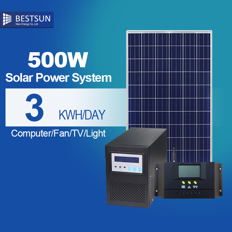 BFS-500W-S solar power system price kits for home power panel generator,electricity generator system battery pallet(China (Mainland))