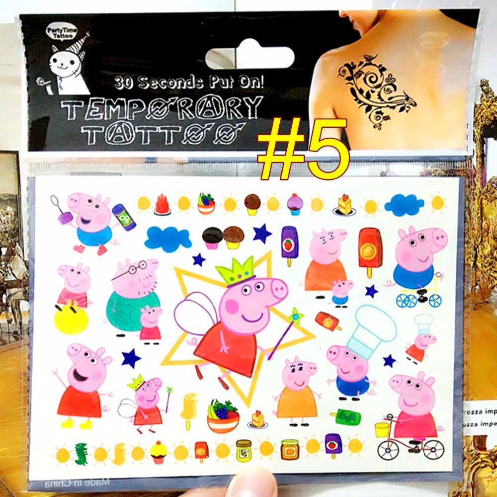 Pinky Pig Family Child Temporary Body Art Flash Tattoo Sticker 17 10cm Waterproof Tatoo Xmas Gift