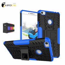 For Xiaomi Mi MAX Case TPU & PC Dual Armor Cover with Stand Holder Hard Silicone Cover Shock Proof Anti-Skid Combo Back Case(China (Mainland))