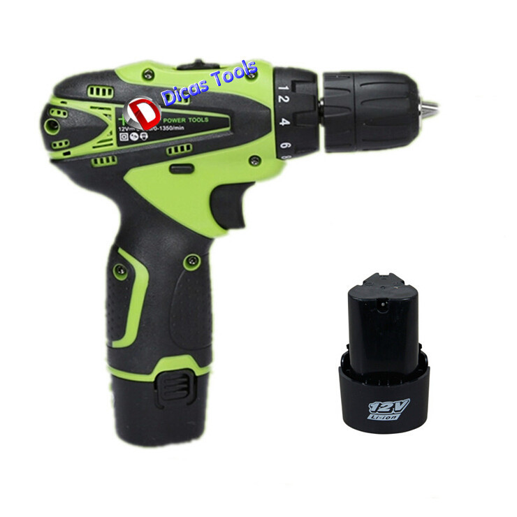 product 12v 2*batteryHousehold electric screwdriver multi-function electric drill tools
