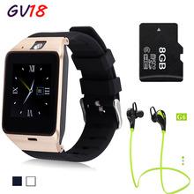 2016 NUEVO reloj inteligente Bluetooth GV18 Soporte SIM GSM cámara de Vídeo smartwatch Para Android teléfono Móvil 1.3MP cámara