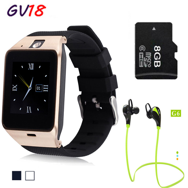 Lemado Bluetooth GV18 smart watch Support SIM GSM Video camera with 1.3MP camera For Android Mobile phone(China (Mainland))