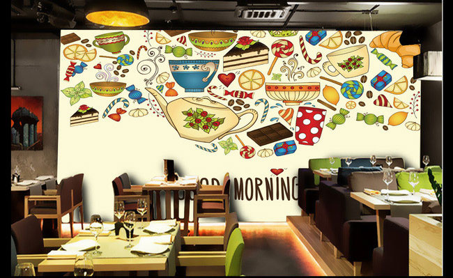 Buy hand painted murals cake candy for Mural restaurant
