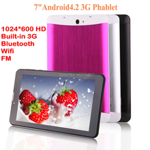 """Mini 7"""" Brand Tablet PC 3G Phablet Dual SIM MTK6572 Android 4.2 4GB Dual Core with Flash Light GPS Phone Call WIFI notebook pad"""