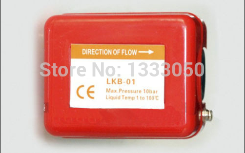 Free Shipping 3/4 220V 3A Water/Paddle Flow Switch BSPP Thread Connection SPDT Contacts Red<br><br>Aliexpress