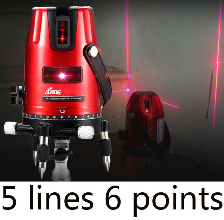 Free shipping Green laser multifunction laser cross line rotating self-leveling green laser level 360 5 line 6Point(China (Mainland))
