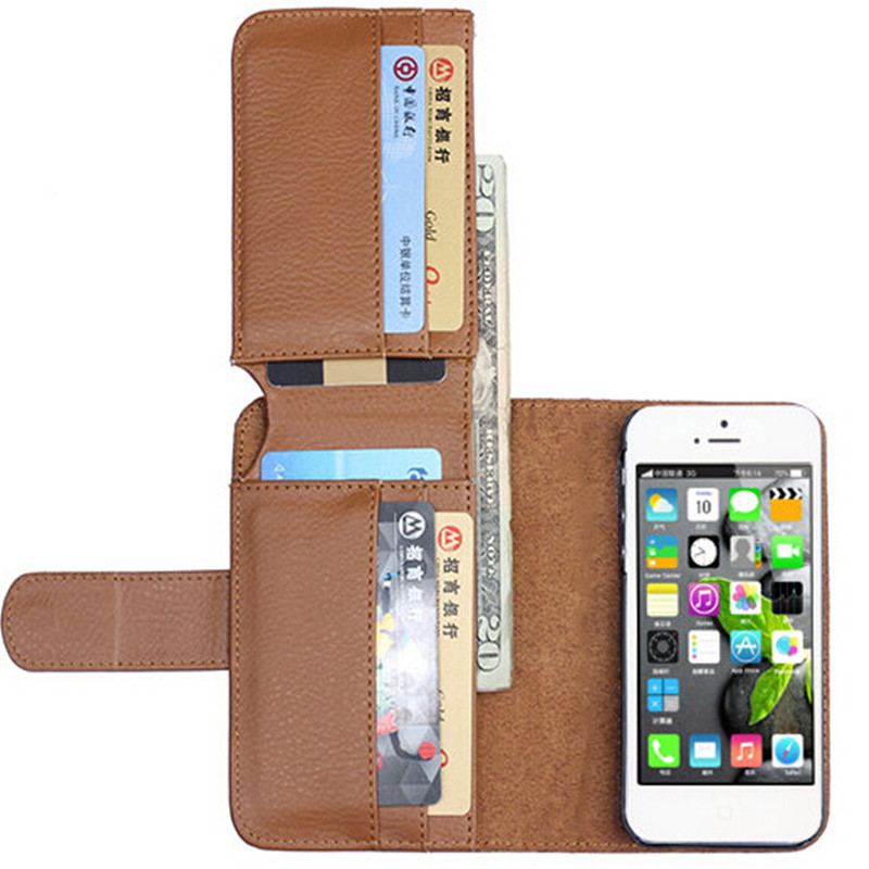5S Retrostyle Business Man PU Leather Case For Apple iphone 5S 5G Wallet Photo Card Holder Frame Stand Cover(China (Mainland))