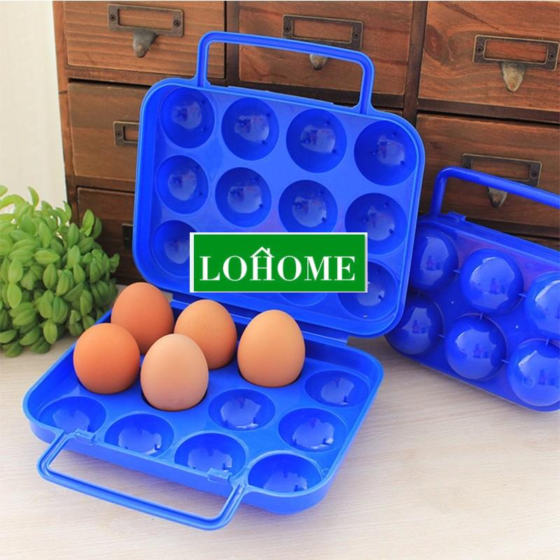 lohome's Folding Plastic Carry 12 Eggs Case Box Storage Container Folding Basket(China (Mainland))