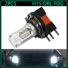 Buy 2pcs High Power Xenon White LED 2835-SMD H15 LED Bulbs Audi BMW Mercedes Volkswagen Fog Daytime Running external Lights for $18.50 in AliExpress store