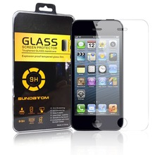 Sundatom ultra thin Rounded Edge 2.5D High Quality Tempered Glass screen protector for iPhone5 iPhone 5 5S 6 Protective Film(China (Mainland))