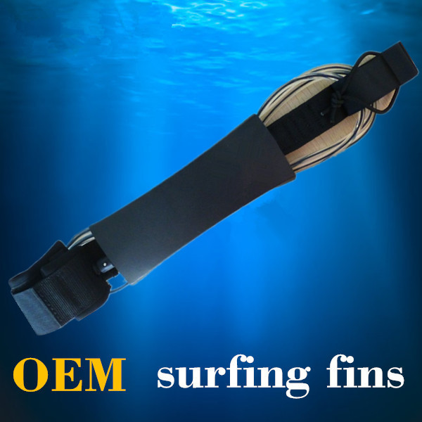 Wholesale - Fashion Surfboard Leash surfing Leash10ft 7mm clear with black core(China (Mainland))