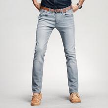 KUEGOU Новинка весны мужские Повседневное джинсовые штаны тонкие Серый цвет с карманами для человека Slim Fit Джинсы для женщин мужской одежды бр...(China)