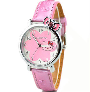 2016 NEW HOT Sale LOW Price Fashion Girls Cute Cartoon Watch Hello Kitty Watches Woman Children Quartz Watch Mix Color(China (Mainland))