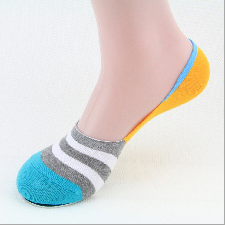 Free Shipping Article wide invisible socks Men antiskid boat socks Doug shoes silicone male socks Pure