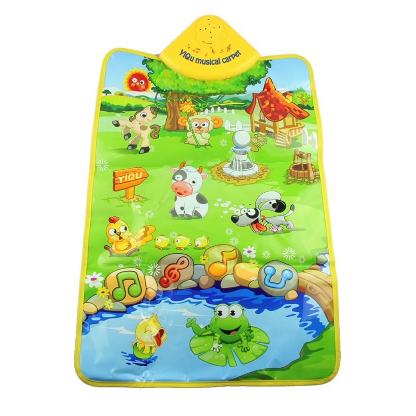 Essential 2014 New Creative Music Sound Farm Animal Kids Baby Play Playing Mat Carpet Playmat Gym Toy 623(China (Mainland))