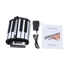 Portable 61 Thickening Keys Flexible Roll Up Piano MIDI Soft Silicone Rubber Keyboard Electronic Piano Suitable for Beginners(China (Mainland))