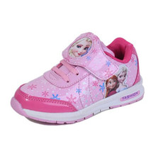 2016Girls sports shoes for children slip casual running shoes breathable leather sneakers  shoes