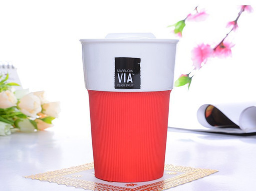 Ceramic cups mugs classic sports car travel mug 280 ml cup brief three colors red, green and black coffee cup free shipping(China (Mainland))