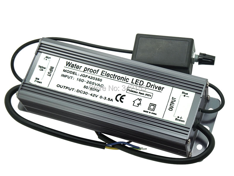 150W Dimmable Electronic LED Driver IP67 Waterproof Lighting Transformers DC 30V-42V 0-3.5A For 150W Cree LED Light(China (Mainland))