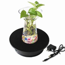 Black Velvet Top Electric Motorized Rotating Display Turntable for Model Jewelry Hobby Collectible Home - With 110v Ac Adapter(China (Mainland))