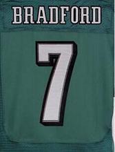 NEW arrival 11 Carson Wentz 43 Darren Sproles 7 Sam Bradford 20 Brian Dawkins black white green stitched elite jersey(China (Mainland))