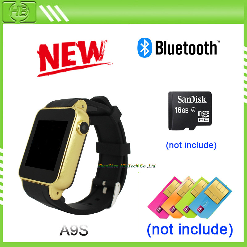 A9S Bluetooth Smart Watch Phone SIM Card Smartwatch with Camera WristWatch for iPhone 6 5S Samsung
