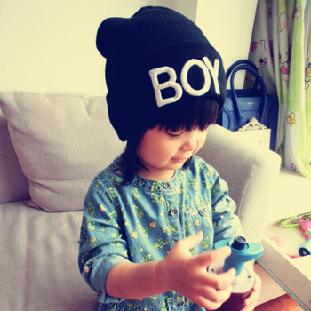 New Fashion Toddler Baby Girl Boy Winter Warm Woolen Skull Hats BOY Beanie Caps Ski Hats