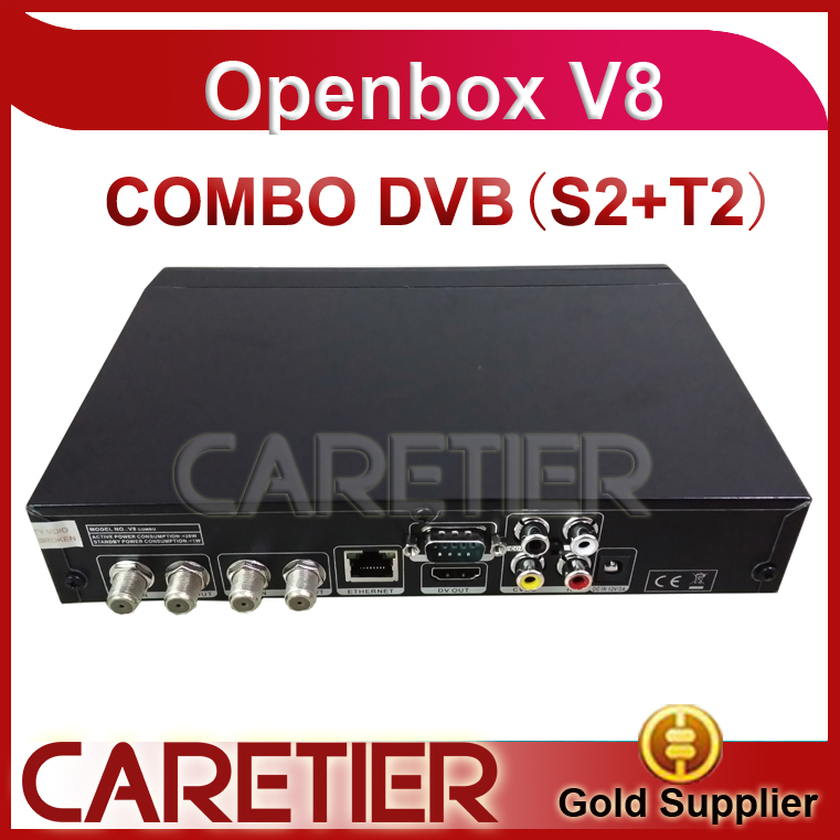 New DVB-T2 DVB-S2 satellite terrestrial combo receiver with H.264/MPEG4 USB2.0 PVR receiver openbox v8 combo 3pcs/lot(China (Mainland))