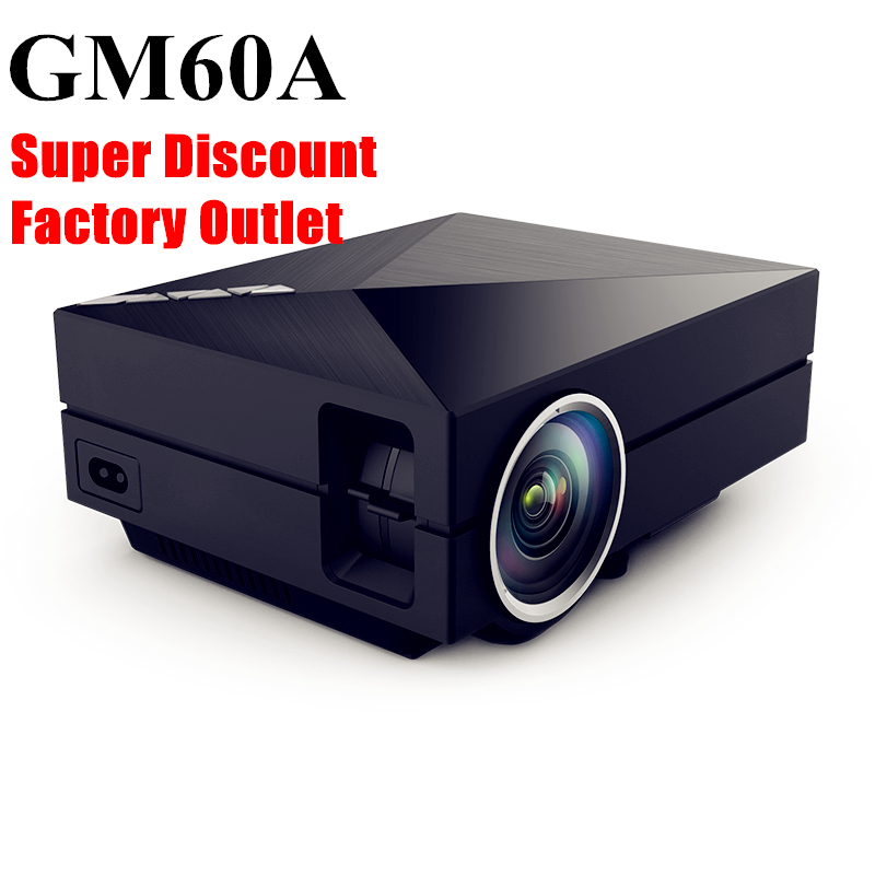 aao 2016 Brand New Updated Version Solo GM60A Mini Portable Metal LED Home Theater Projector HD Video Projector Support 1080p(China (Mainland))