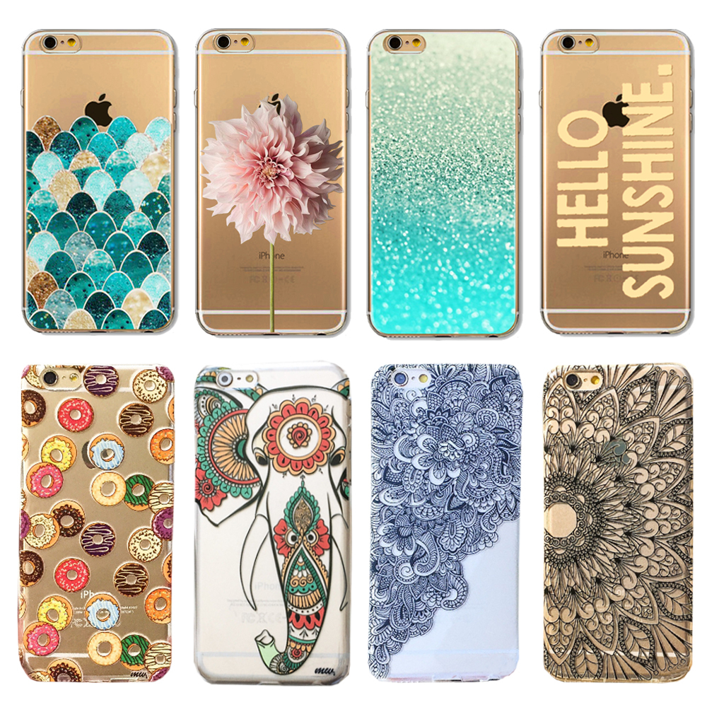 """New Various 3D Flower candy elepant henna flower Pattern Skin Hard Back Case Cover For Apple iPhone 6 6plus 4.7"""" 5.5"""" 2015 EC753(China (Mainland))"""
