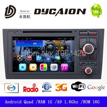 In dash 7'' Touch screen car dvd player for AUDI A4 with gps nav with sd fm dvb-t2 camera audio and mp3 mp4 player(China (Mainland))