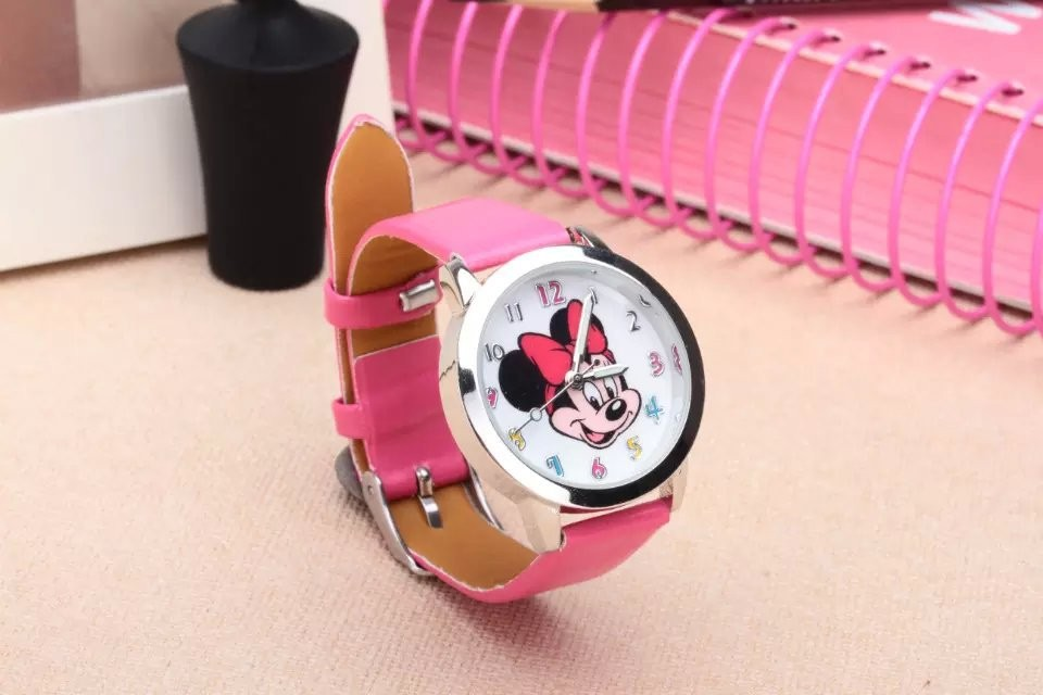Minnie mickey cartoon watch women watches kids quartz wristwatch child boy clock girl gift
