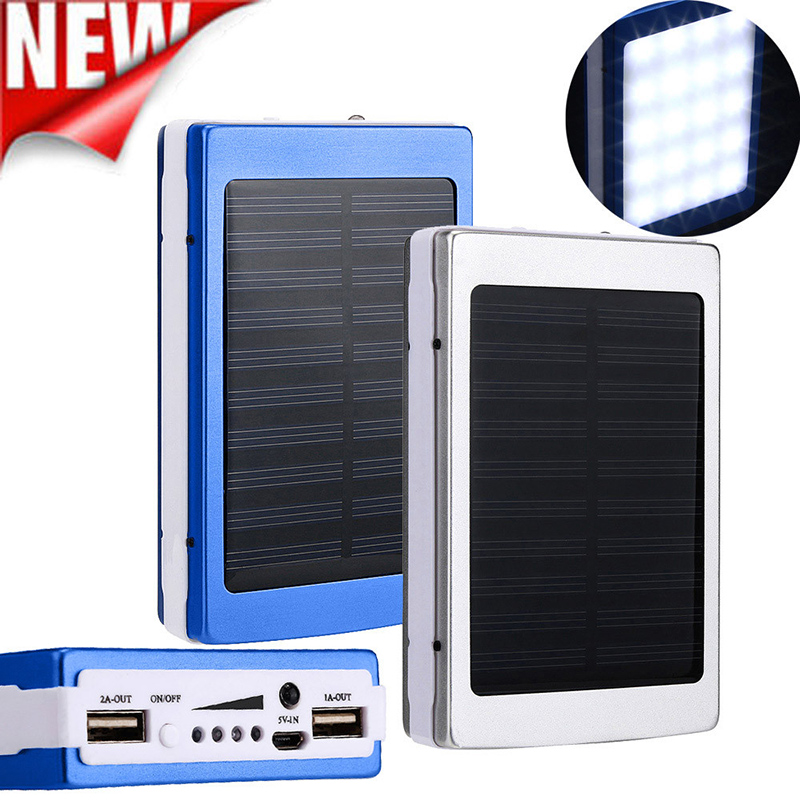 2017 New Portable Solar Power Bank 30000mAh Dual-USB Solar Battery Charger powerbank for iphone 6 7 all Phone Universal Charger(China (Mainland))